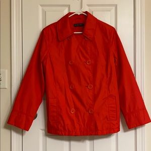 New York & Company Red Pea Coat Size Large